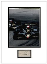 Mario Andretti Autograph Display